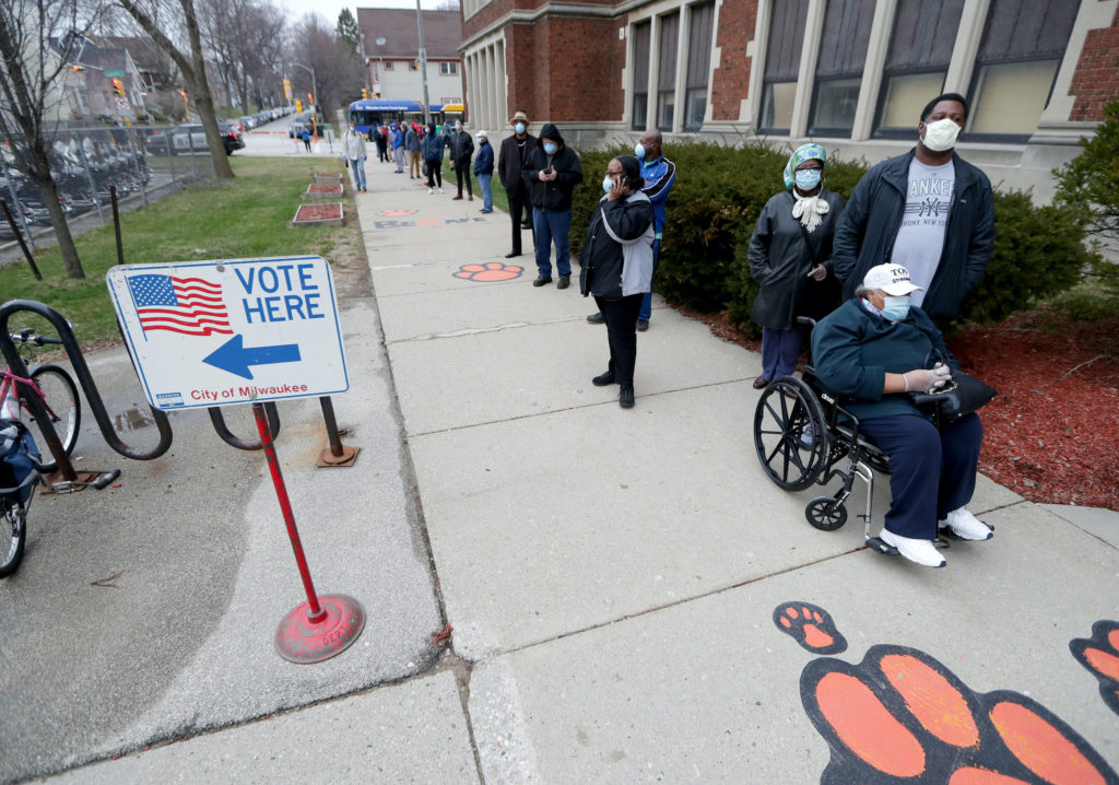 2 views on Wisconsin's decision to hold in-person voting Tuesday