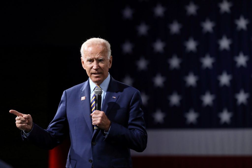 Former Vice President Joe Biden has said he would name a running mate around the start of August. There is still no consensus in Democratic circles about who would be the best choice. File Photo by Scott Morgan/Reuters.