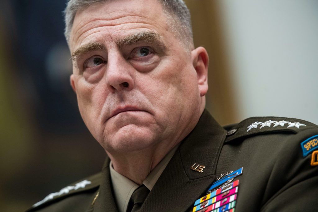Chairman of the U.S. Joint Chiefs of Staff Gen. Mark Milley testifies before a U.S. House Armed Services Committee hearing...