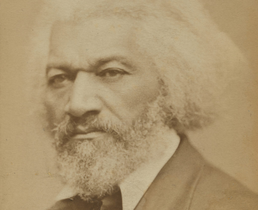 Formerly enslaved abolitionist Frederick Douglass is seen in this i…