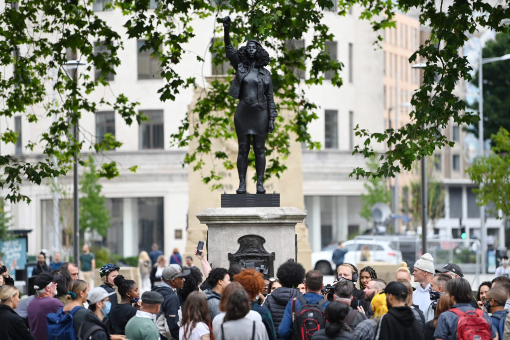 Black U.K. protester statue removed from pedestal in Bristol