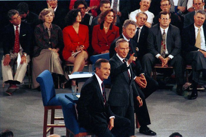 Bush, Clinton, Perot: The second 1992 presidential debate