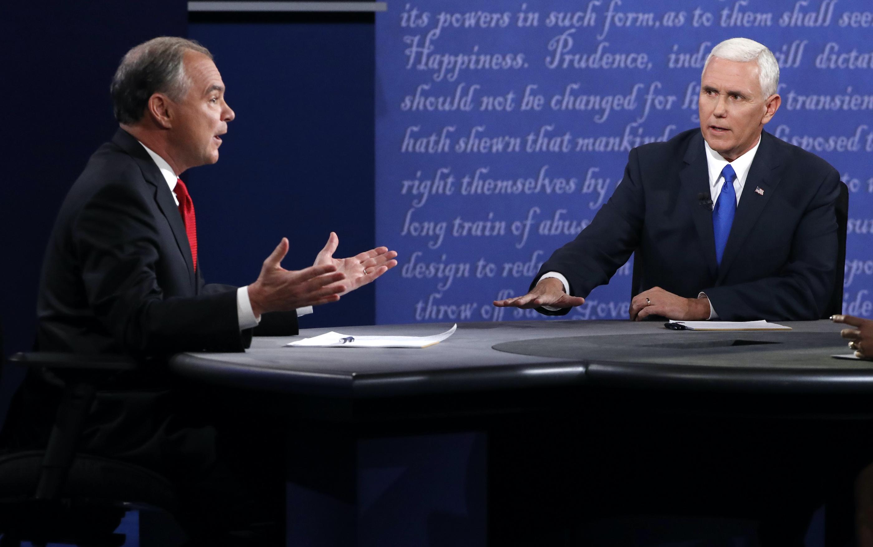 Kaine vs. Pence: The 2016 vice presidential debate