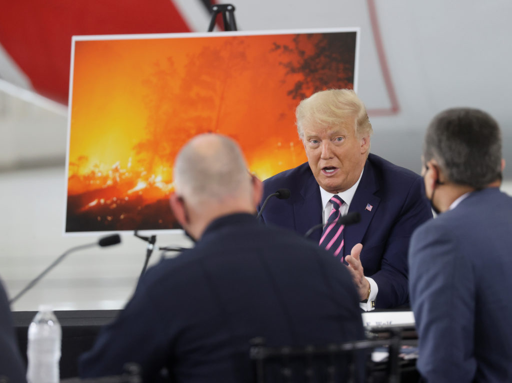 WATCH: Trump ignores climate science in California wildfires briefing