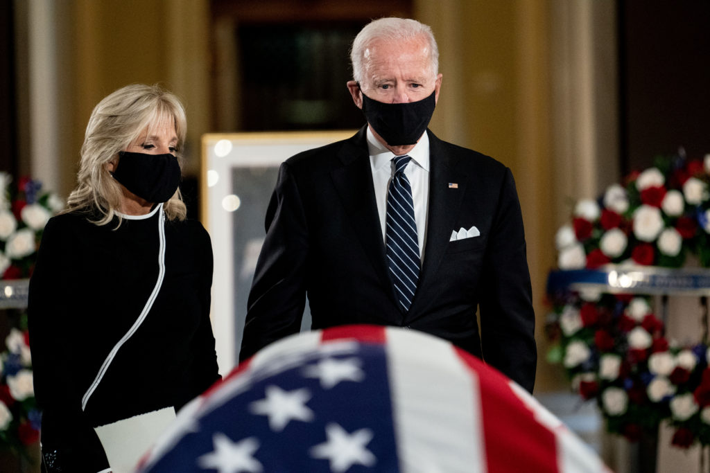 WATCH: Biden pays respects during memorial for Ruth Bader Ginsburg