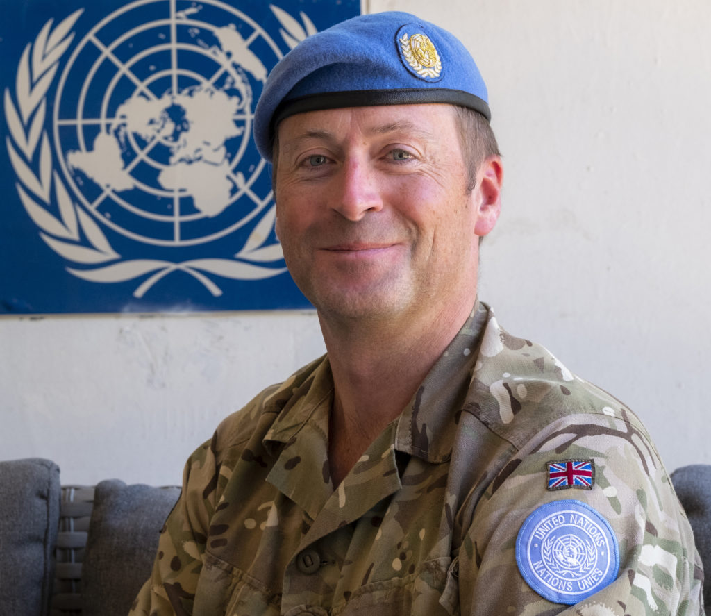 Portrait of Lt. Col. James Gaynor Commanding Officer 7 Rifles Battle Group of the British Army U.N. peacekeeping force, Cyprus.