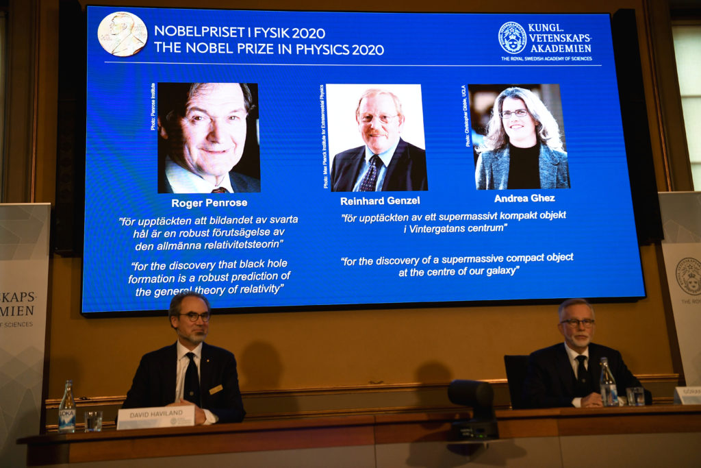 Three scientists win Nobel physics prize for black hole research