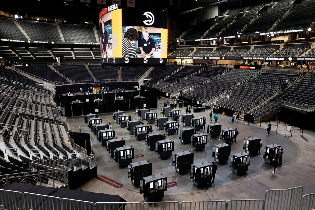 Arenas, stadiums find new life as safer options for voting