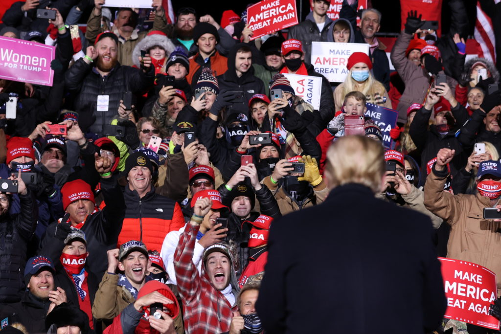 Omaha police say 7 Trump rally goers taken to hospital after enduring cold weather conditions