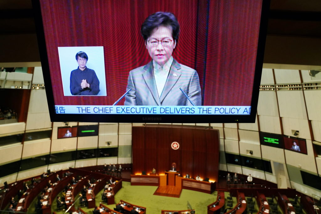 News Wrap: Hong Kong's leader says law criminalizing dissent has brought stability