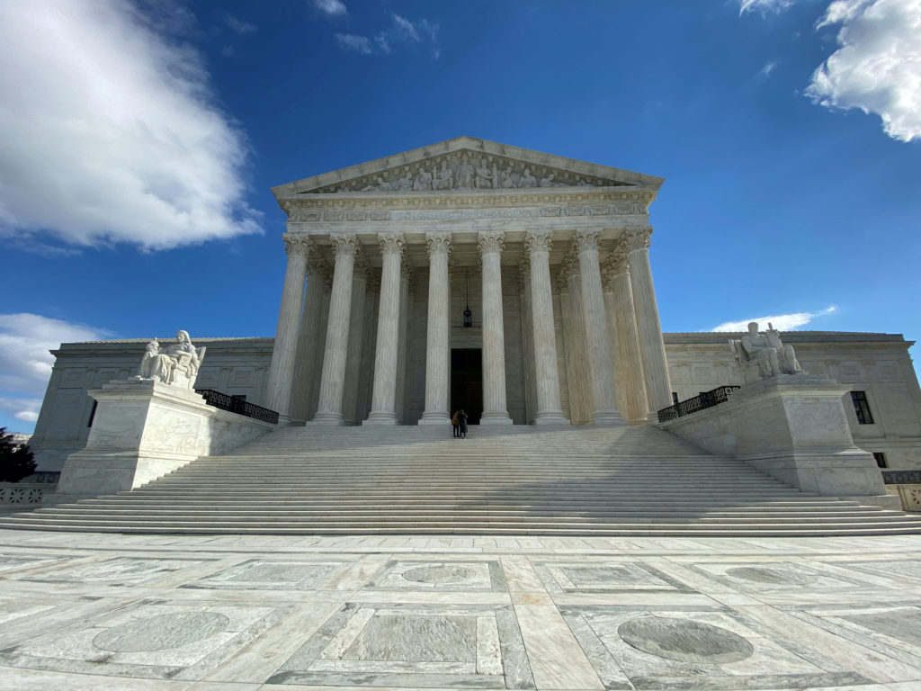 FILE PHOTO: The buliding of the U.S. Supreme Court is pictured in Washington, D.C., U.S., January 19, 2020. Photo by Will Dunham/File Photo/Reuters
