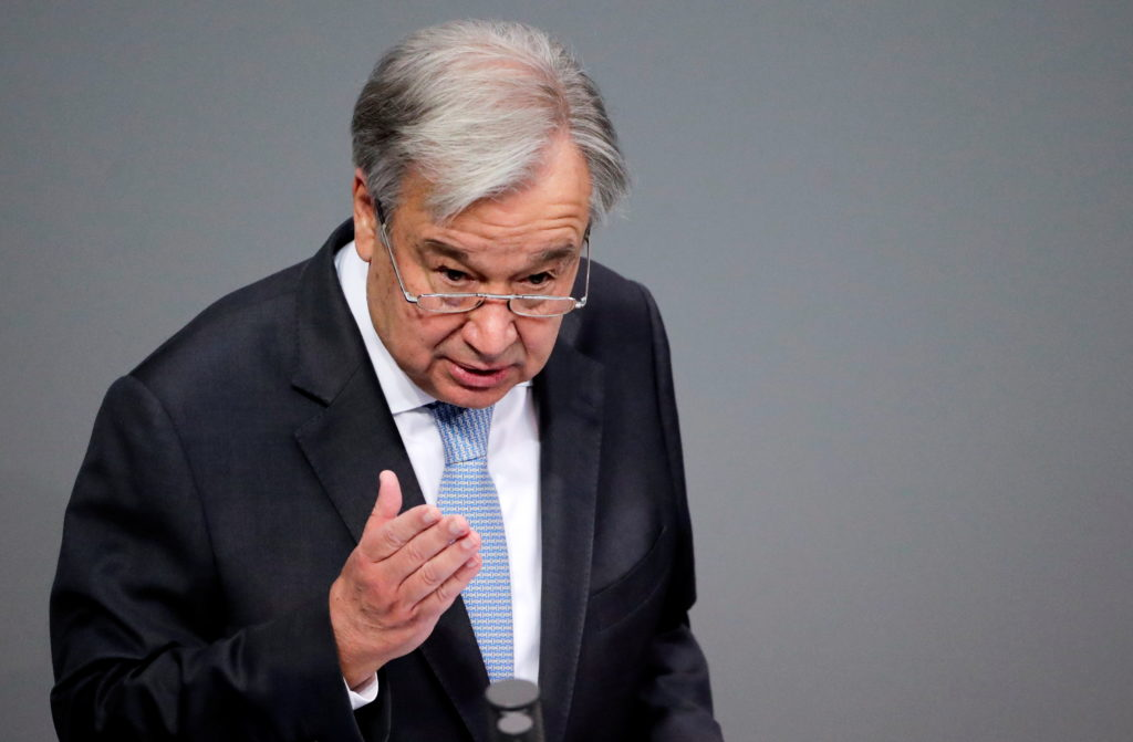 U.N. chief says world faces 'existential threats,' fragilities