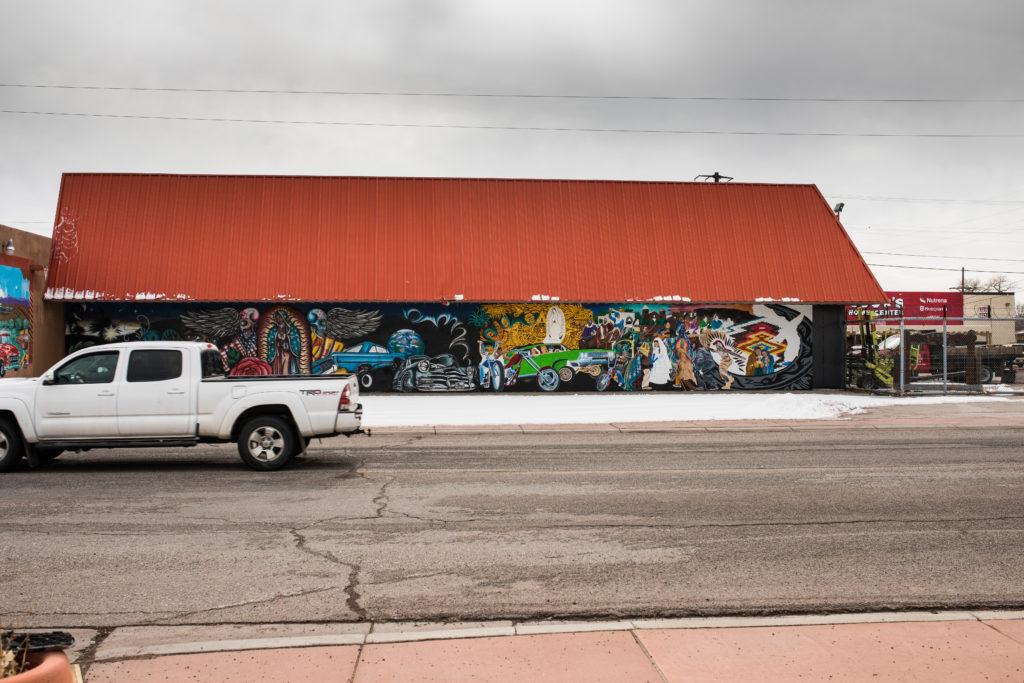 A mural in downtown Española, NM.