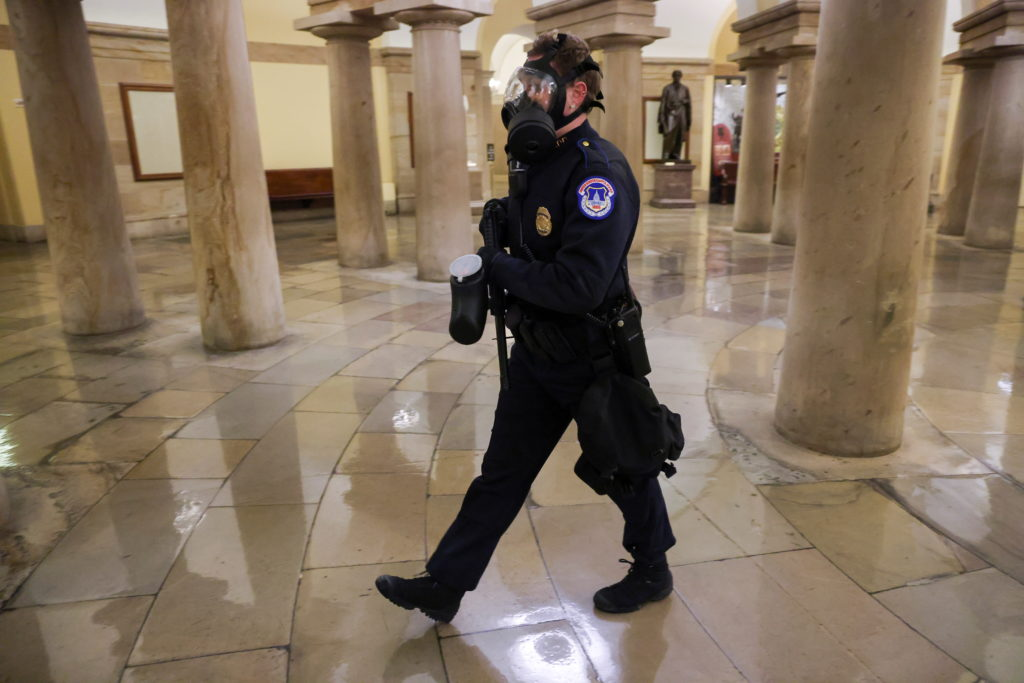 Mob used 'chemical irritants' on police when they stormed U.S. Capitol