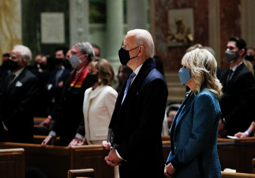 WATCH: Biden attends Inauguration Day church service with family, Pelosi, McConnell