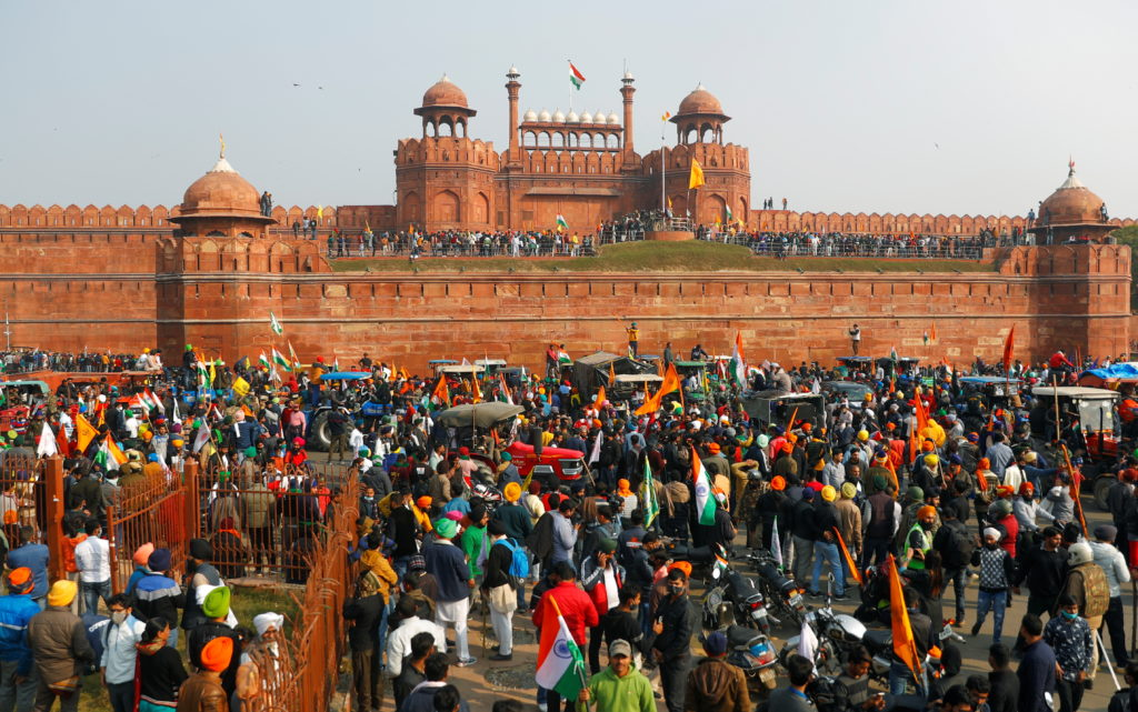 Protesting farmers storm India's Red Fort in challenge to Modi