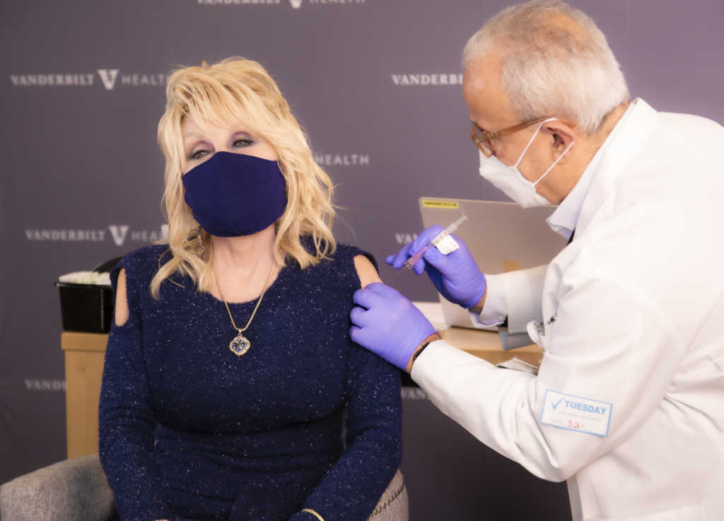 Dolly Parton receives COVID-19 vaccine, rewrites 'Jolene' to fit the occasion