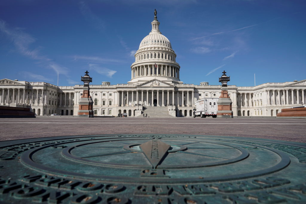 General view of the U.S. Capitol as the House of Representatives takes up debate of U.S. President Joe Biden's $1.9 trilli...
