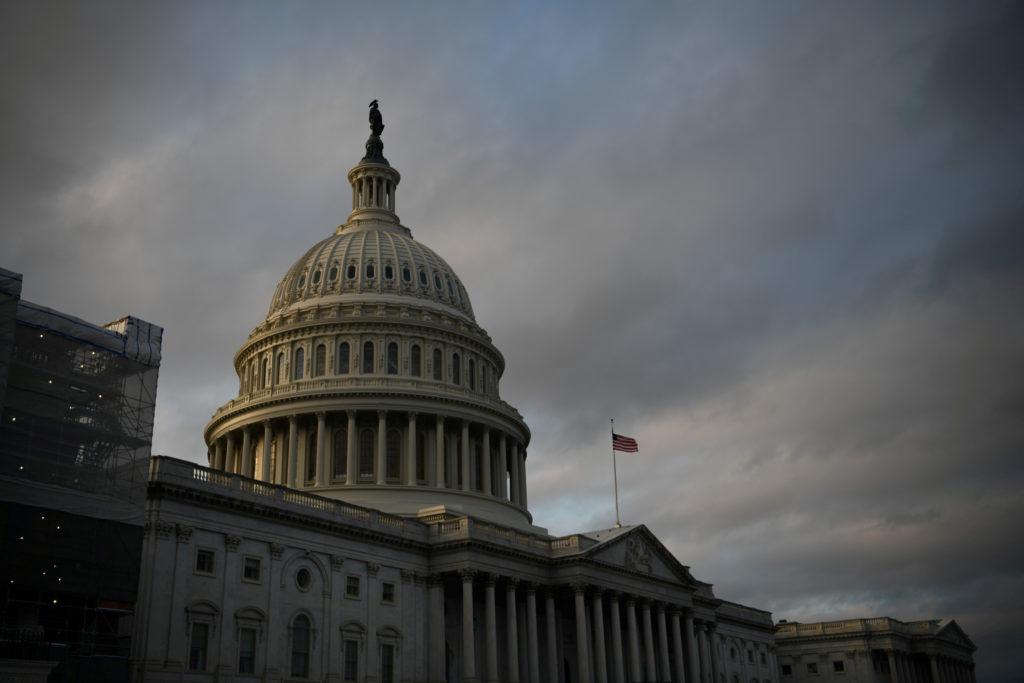 The U.S. Capitol building is pictured at sunset on Capitol Hill in Washington, U.S., November 27, 2019.
