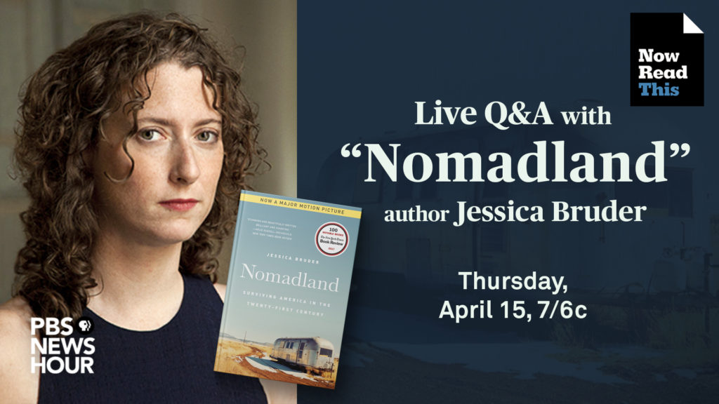 WATCH LIVE: Author Jessica Bruder takes your questions about 'Nomadland'