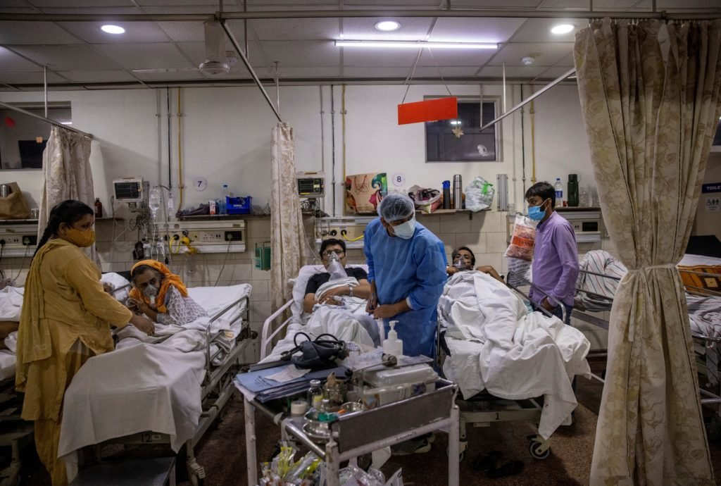 India hits another grim virus record as oxygen demand jumps