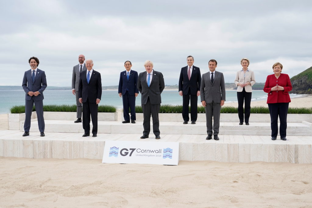 Biden meets with G-7 leaders to discuss global vaccinations, taxes on world's wealthiest