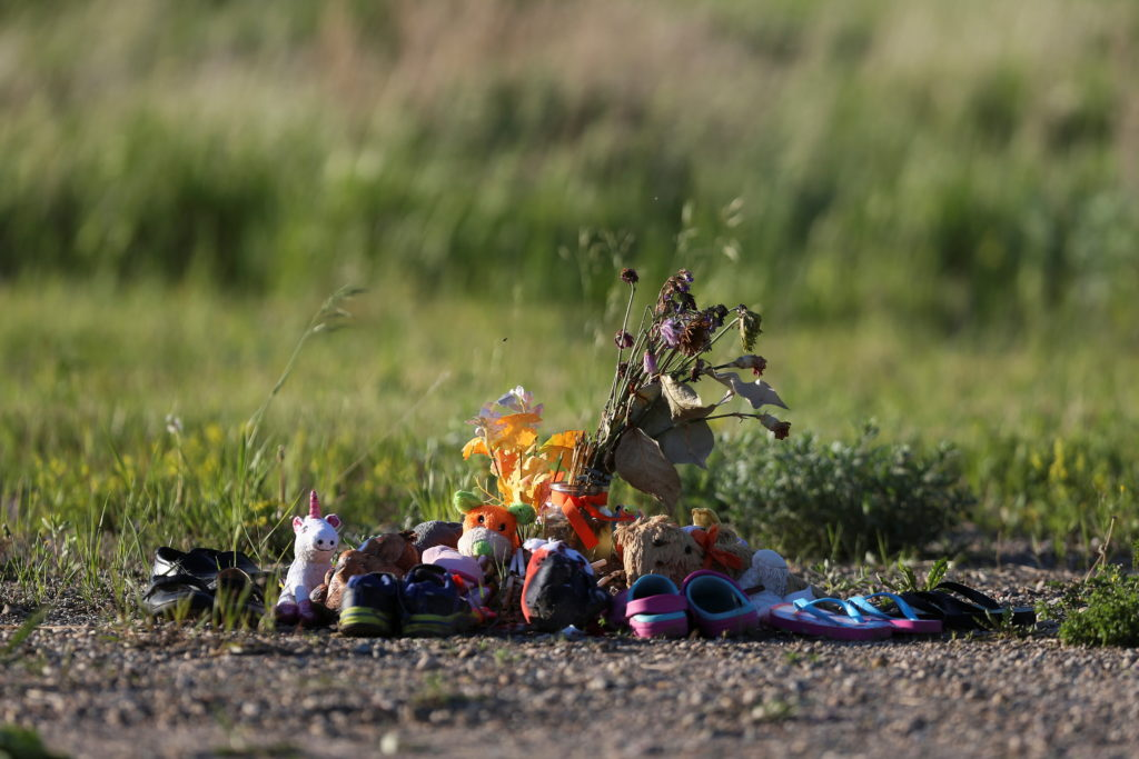 Offerings for children who died at Brandon Indian Residential School