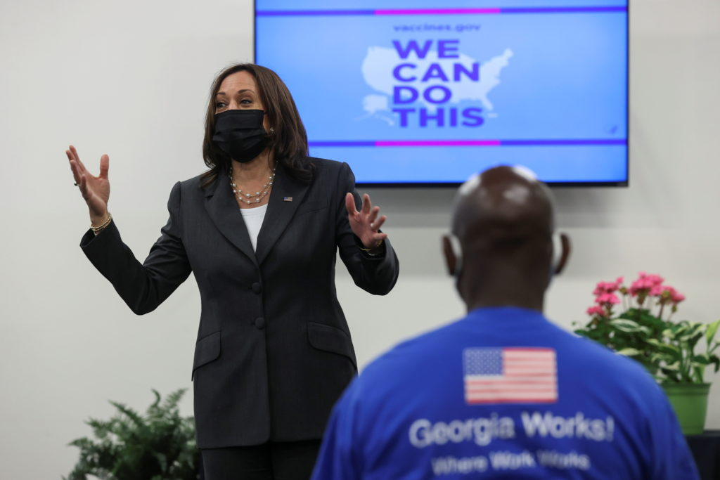 WATCH: Kamala Harris delivers remarks on COVID vaccination effort