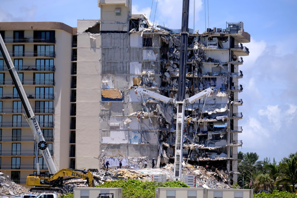 Search and rescue operations continue after partial building collapse in Surfside, Florida