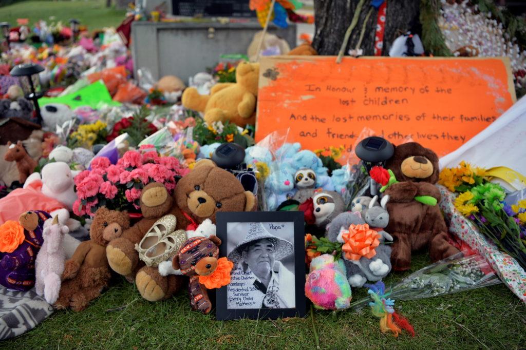 Memorial for lost indigenous children in Canada