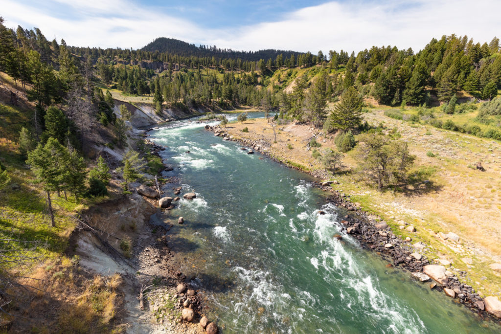 Yellowstone River from the bridge