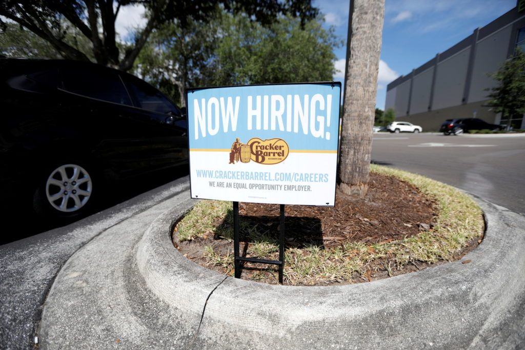 FILE PHOTO: Help wanted signs appear across Tampa