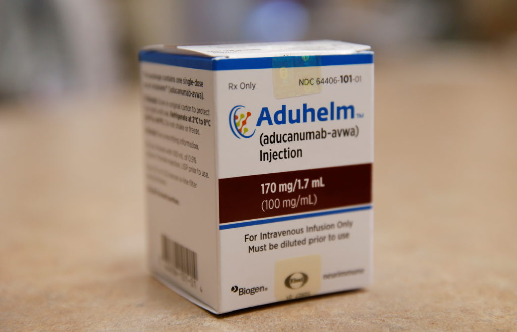 First intravenous infusion of Aduhelm, Biogen's controversial recently approved drug for early Alzheimer's disease