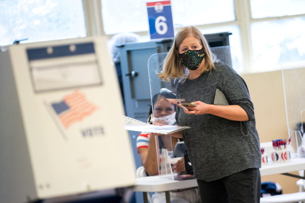 FILE PHOTO: New York mayoral primary election early voting
