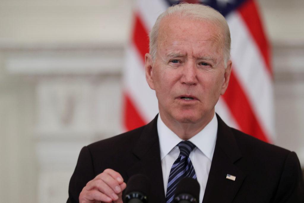 U.S. President Joe Biden delivers remarks on steps to curtail U.S. gun violence, in Washington