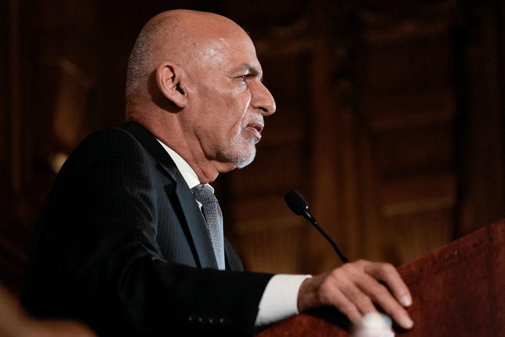 Afghanistan's President Ashraf Ghani holds a news conference, in Washington