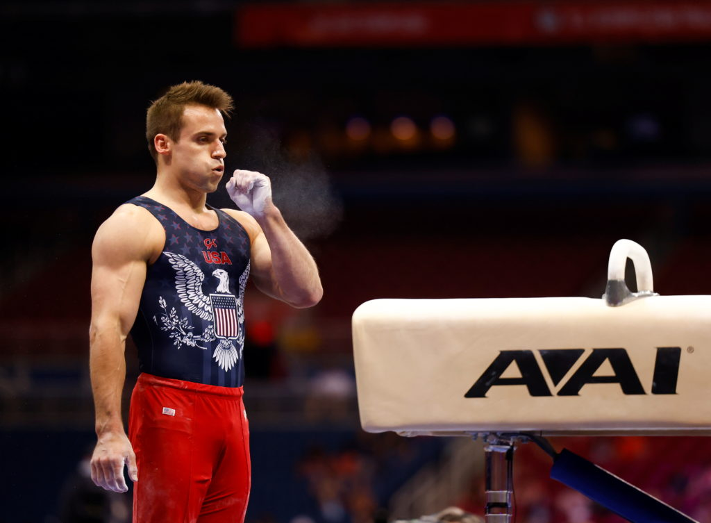 U.S. gymnastics Olympic trials are held in St. Louis