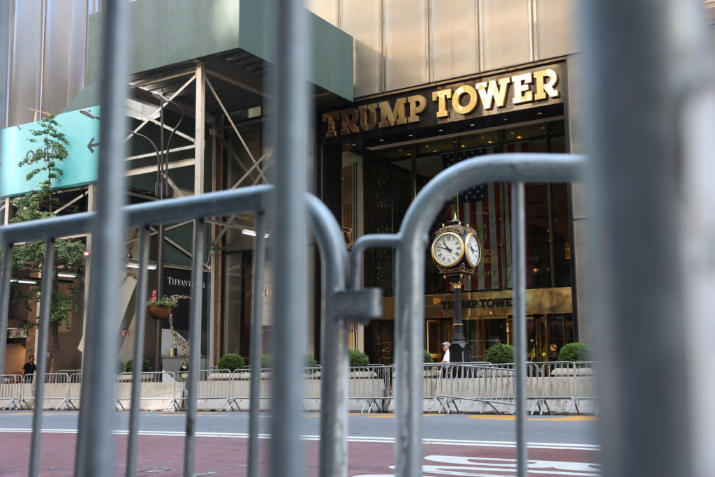 View of the Trump Tower in the Manhattan borough of New York