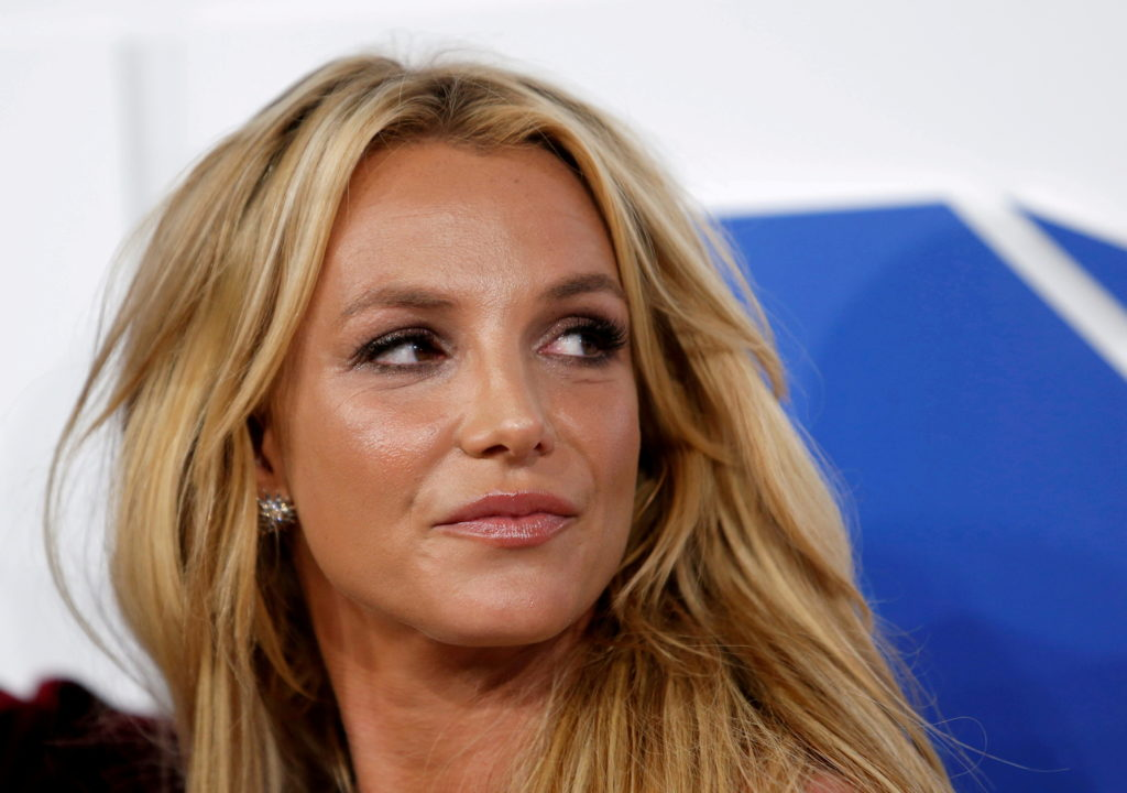 FILE PHOTO: Singer Britney Spears arrives at the 2016 MTV Video Music Awards in New York