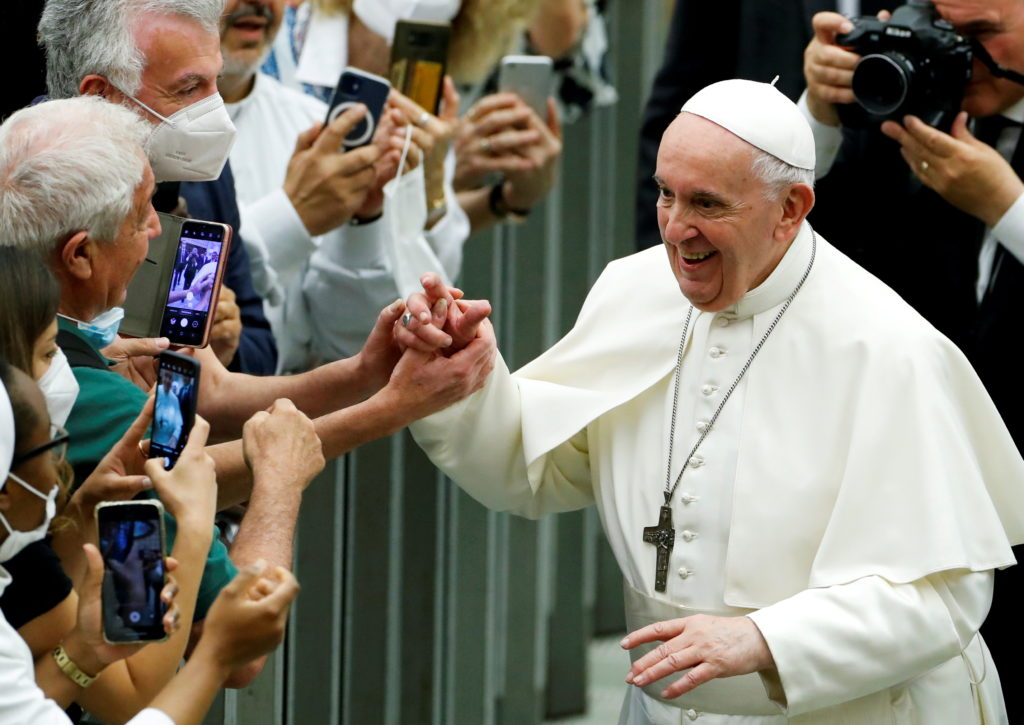 FILE PHOTO: Pope celebrates 50th anniversary of a Catholic charity