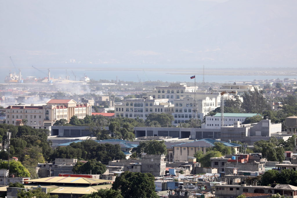 A view of the area around Champs de Mar near the presidential palace, in Port-au-Prince