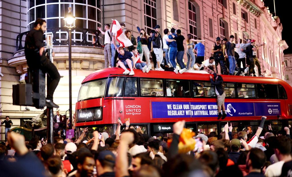 FILE PHOTO: Euro 2020 - Fans gather for England v Denmark