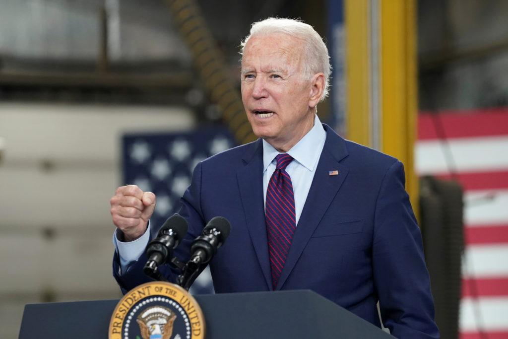 FILE PHOTO: U.S. President Biden visits Municipal Transit Utility in La Crosse