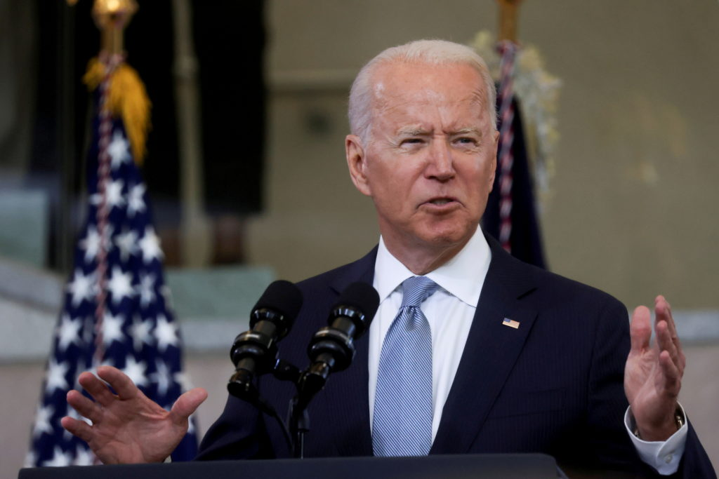 FILE PHOTO: U.S. President Joe Biden delivers remarks on actions to protect voting rights in a speech in Philadelphia