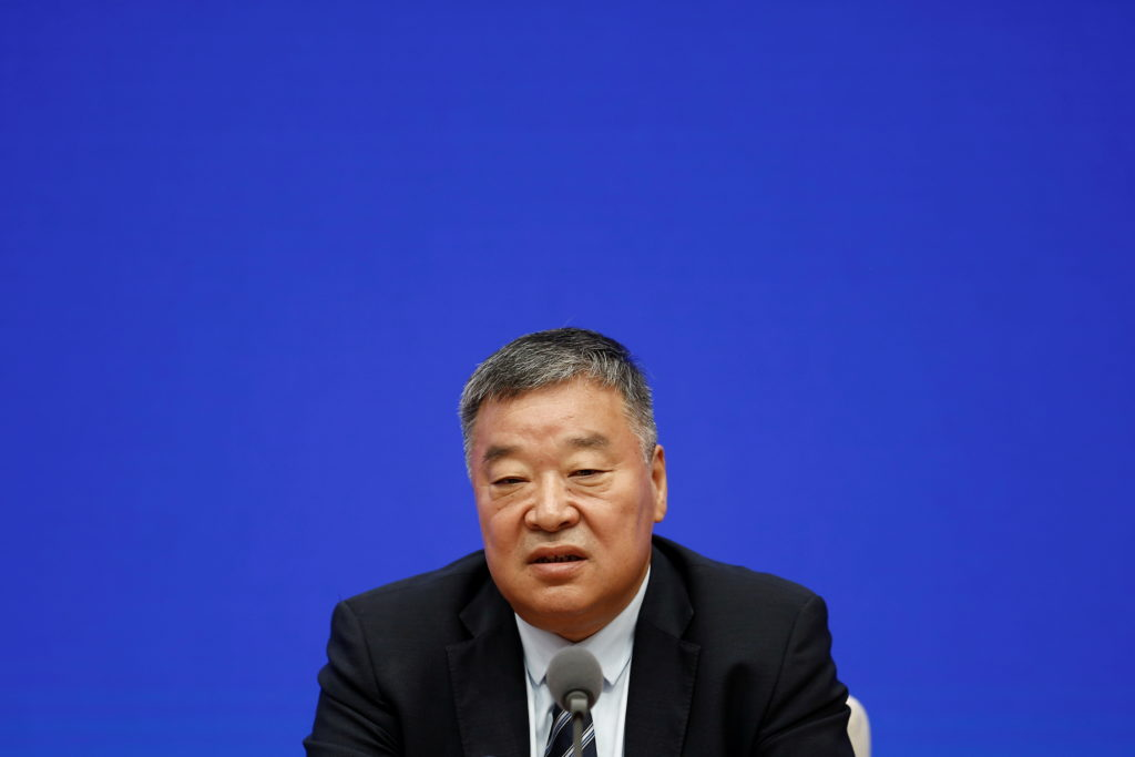 Liang Wannian, the Chinese team leader on the World Health Organization (WHO) joint expert team, attends a news conference...