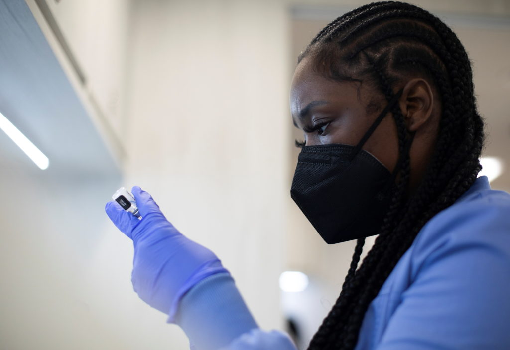 Mobile vaccination clinic hosted by Detroit Health Department in partnership with Detroit Public Schools Community District