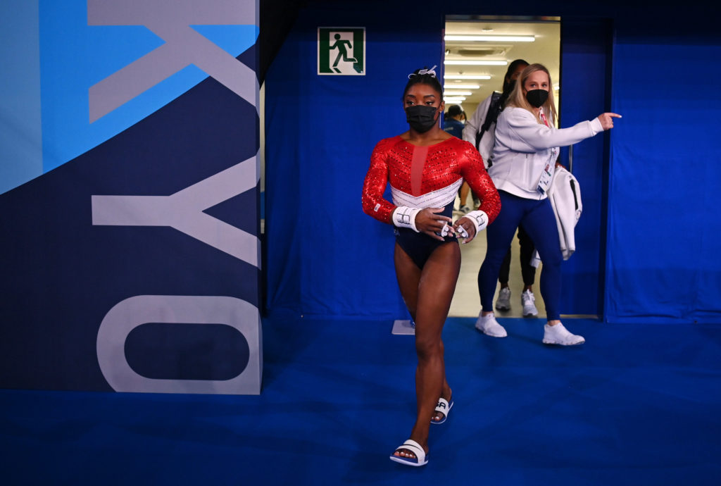 Simone Biles took 'step back' from team competition, saying she wasn't in the right headspace
