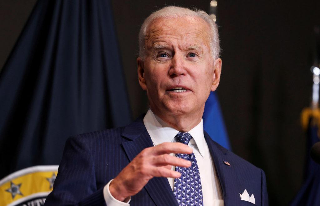 "FILE PHOTO: U.S. President Joe Biden delivers remarks to members of ""the intelligence community workforce and its leadersh..."