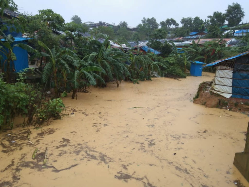 Floods caused by heavy monsoon rains at Cox's Bazar