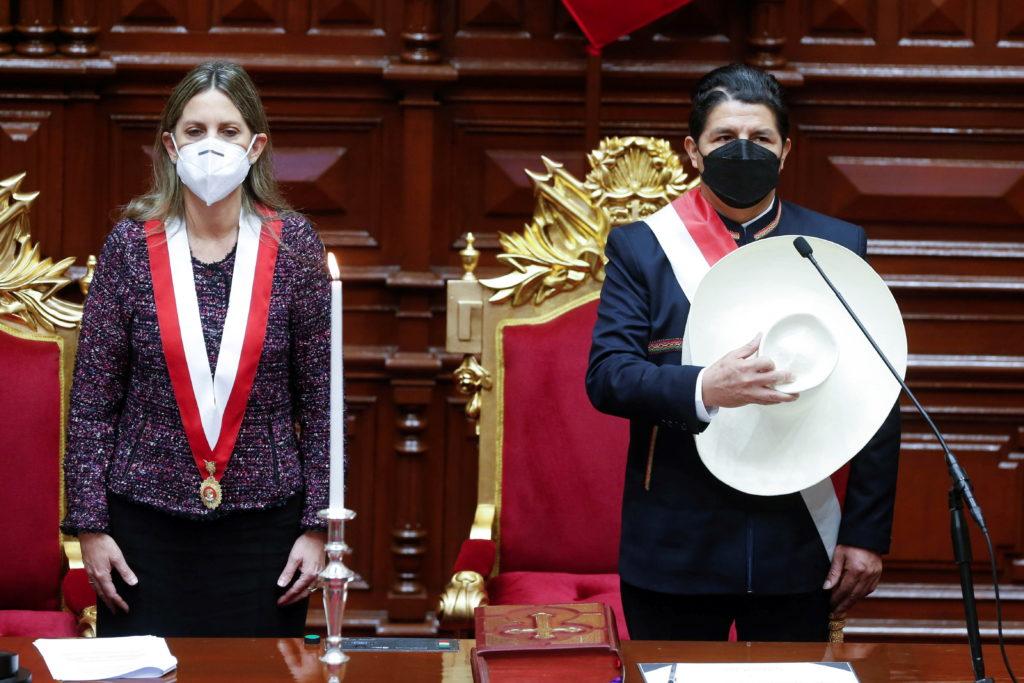 Leftist rural teacher sworn in as Peru's president